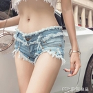 超短褲女網紅主播牛仔短褲女新款春季流行性感顯瘦低腰破洞超短熱褲潮 麥吉良品