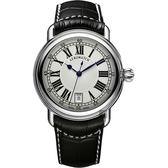 AEROWATCH 經典扭索時尚腕錶-銀x黑/40mm A42900AA01