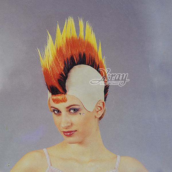 節慶王【W030021】龐克假髮(尖髮三層),萬聖節服裝/表演道具/造型假髮/角色扮演/化妝舞會/表演
