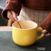 馬克杯 創意簡約家用文藝早餐杯 泡面碗杯子陶瓷超大容量      艾維朵