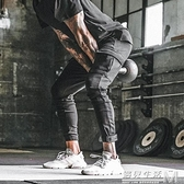 新款肌肉兄弟長褲健身運動褲男工裝哈倫褲戶外訓練束腳休閒褲