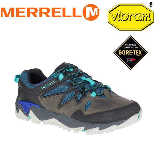 【MERRELL 美國 女款 ALL OUT BLAZE 2 GTX《藍/灰》】ML09378/休閒鞋/登山鞋/運動鞋★滿額送