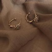 有朵花兒韓國小眾設計感鑲鉆耳釘個性氣質法式網紅高級感耳環女 非凡小鋪