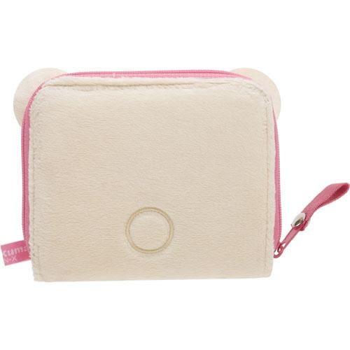拉拉熊 造型絨毛對折短夾/零錢包/卡片包 懶妹款 San-X Rilakkuma 該該貝比日本精品 ☆