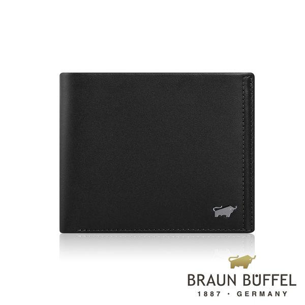【BRAUN BUFFEL】 德國小金牛安卓系列4卡零錢袋皮夾(太空黑) BF312-315-BK