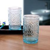 萬聖節大促銷 創意玻璃刷牙杯 情侶新婚漱口 大號透明藍色洗漱杯子 牙缸牙具