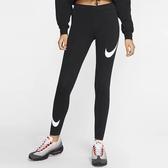 NIKE Sportswear Leg-A-See 女裝 長褲 緊身 慢跑 訓練 柔軟 黑 【運動世界】 CJ2656-013