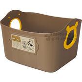 〔小禮堂〕迪士尼 小熊維尼 日製軟式收納盒《棕.大臉》2.5L.收納籃.置物籃 4904121-34049