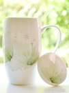 杯子 700ML大容量馬克杯帶蓋簡約骨瓷創意喝水杯辦公室茶杯女陶瓷杯子 【優樂美】