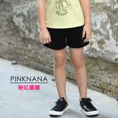 PINKNANA童裝-大童多色繡花造型短褲51129