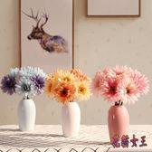 仿真盆栽 玫瑰花牡丹花套裝客廳裝飾花假花絹花小盆栽擺件 BF7974【花貓女王】