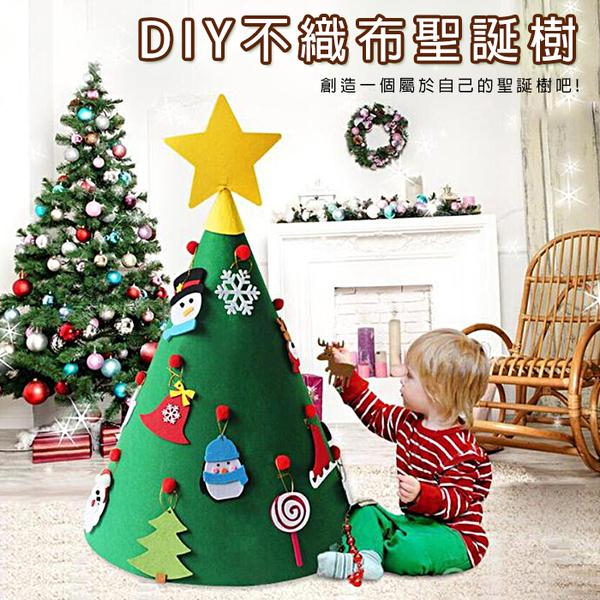 DIY不織布聖誕樹 聖誕節 耶誕節 聖誕倒數 聖誕日曆 兒童禮物 自由拼貼 佈置【葉子小舖】