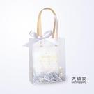 喜糖袋 聖誕節禮品袋小禮物包裝袋伴手禮手提高檔結婚回禮喜糖盒袋子透明