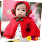 可愛公主絨線耳罩+手套+帶帽斗篷套裝   【十方佛教文物】
