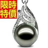 珍珠項鍊 單顆10-10.5mm-生日聖誕節交換禮物典雅俏麗女性飾品53pe21[巴黎精品]