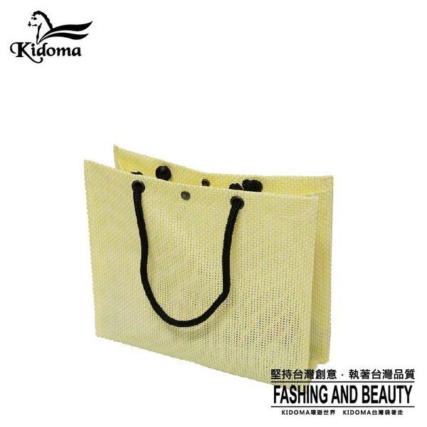 編織袋(L)-鵝黃白-01C