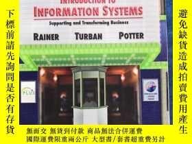 二手書博民逛書店Introduction罕見to Information Systems Supporting and Trans