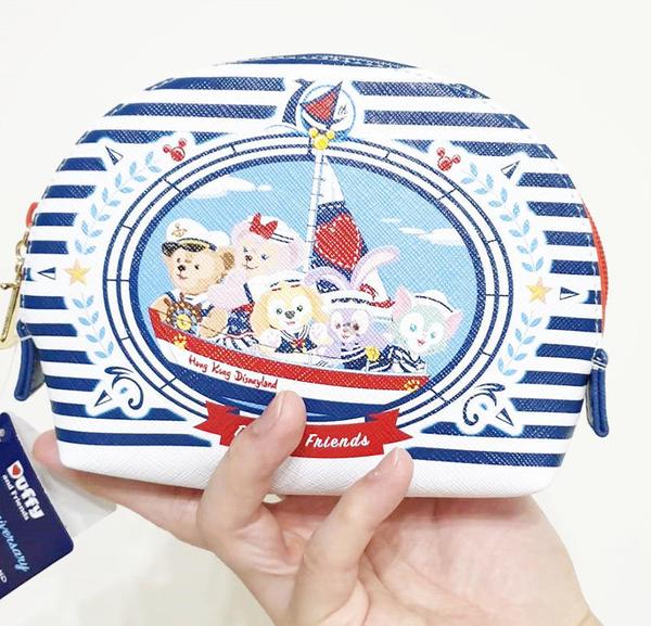 【現貨在台】達菲熊+史黛拉兔 達菲水手海洋風【化妝包】香港代購 迪士尼樂園正版商品