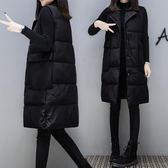 背心外套 棉衣馬甲女冬中長款韓版女裝秋冬季寬鬆加厚背心馬甲外套【小天使】