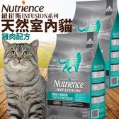 【🐱🐶培菓寵物48H出貨🐰🐹】紐崔斯 INFUSION天然室內貓雞肉配方貓糧-2.27kg