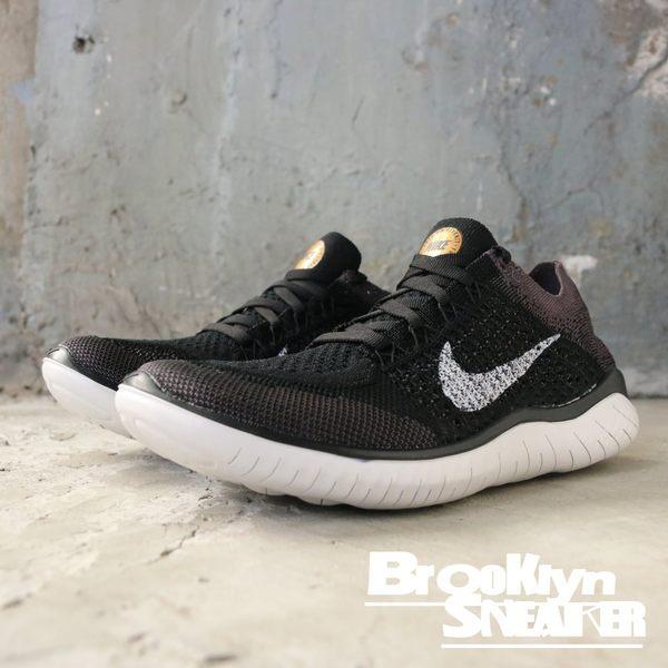 NIKE Wmns Free Rn Flyknit 2018 黑白 編織 慢跑鞋 女 (布魯克林) 942839-005 | 慢跑鞋 |