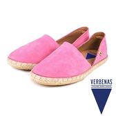 【VERBENAS】CALPE卡爾佩牛皮草編鞋/休閒鞋  粉色(058-PIN)