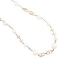 項鍊 Necklace Double Love  銅鍍14K玫瑰金  貝殼珠 珍珠鏈