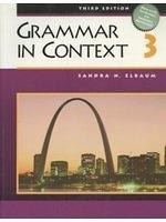 二手書博民逛書店 《Grammar in Context 3, Third Edition (Student Book)》 R2Y ISBN:0838412726│SandraN.Elbaum