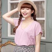 Poly Lulu 簡約修身小落肩涼感上衣-粉紫【91080285】
