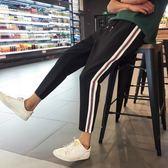 夏季韓版學生寬鬆運動褲小腳長褲薄款女褲休閒九分褲子女哈倫褲潮  晴光小語