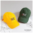 Catworld 美式學院風刺繡棒球帽【18003486】‧F