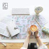 kinbor桌墊卡通加大防水暖手桌墊滑鼠鍵盤墊電腦辦公桌墊寫字墊   韓語空間 igo
