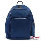 iBrand後背包 率性時尚後開式防盜尼龍後背包(L)-深海藍 HS-2001-31BL