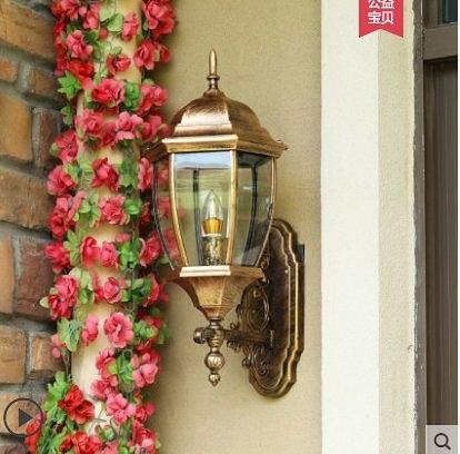 特惠 戶外壁燈防水歐式屋頂陽臺壁燈花園別墅庭院燈門燈外壁燈過道燈(不送光源)