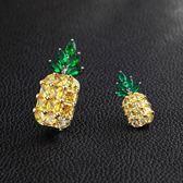 韓國大小菠蘿胸針女式鋯石胸花衣服別針
