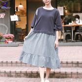 【春夏新品】American Bluedeer - 牛仔條連衣裙(特價) 春夏新款