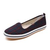 帆布鞋系列 女士中年媽媽女式布鞋女軟底平底時尚款舒適女鞋 快意購物網