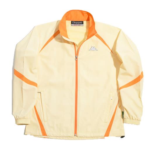 KAPPA義大利時尚舒適吸濕排汗速乾單層風衣~黃/橘