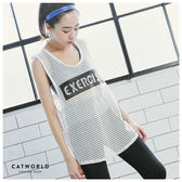 Catworld EXERCISE鏤空運動罩衫背心【11601638】‧S/M/L/XL