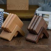 618年㊥大促 木說 實木杯墊套裝 黑胡桃木茶杯托櫸木杯墊原木隔熱墊茶具配件