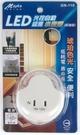 Mayka明家 LED光控自動感應 小夜燈 附插座 琥珀色光 /組 GN-110