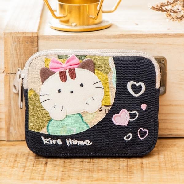 Kiro貓‧公主貓 雙層 拉鍊 零錢包/識別證套/小物收納包【221317】