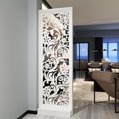 現代簡約客廳家具屏風鏤空座屏隔斷置物架花架時尚玄關屏風隔斷柜