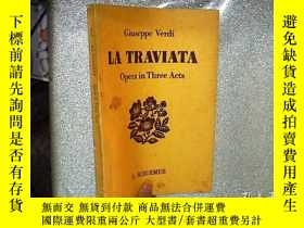 二手書博民逛書店la罕見traviata opera in three acts