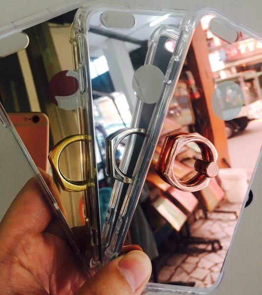 【世明國際】i6/ 6s/ 7 Plus 自拍鏡面手機殼 電鍍保護套 鏡子自拍殼 指環支架 TPU軟殼 指還手機套