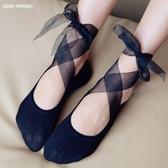 日系蕾絲綁帶網紗船襪棉底公主襪平底隱形襪淺口低幫短襪女 6種穿搭法