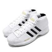 adidas 籃球鞋 Pro Model 2G 白 黑 男鞋 金標 經典款 復刻 運動鞋 【PUMP306】 FV8049