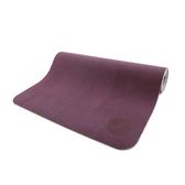 easyoga 瑜珈墊天然橡膠橘皮瑜珈墊5 5mm 附收納束繩背袋深紫色