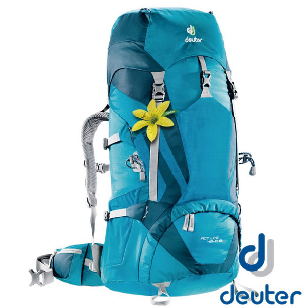 【德國 deuter】ACT Lite 拔熱式透氣背包45+10SL (女版/容量可加大)『水藍/藍』3340215 登山