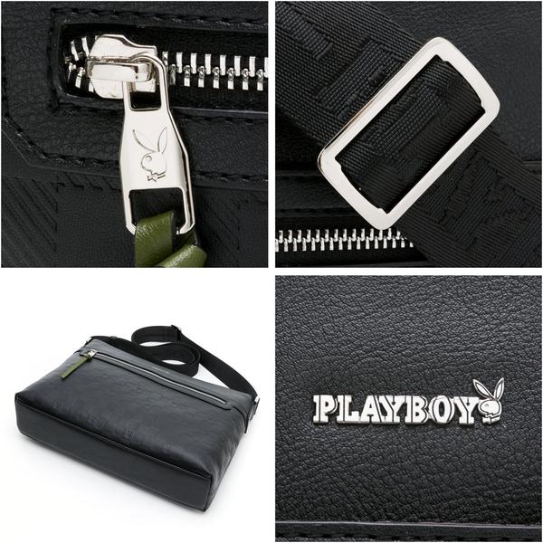 PLAYBOY- 下沉式斜背包 Symbol系列-黑色
